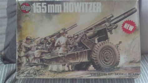 Review,vintage Airfix 1975 155mm Howitzer 135 Plastic