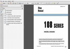 Komatsu 108 Series Diesel Engine Service Repair Manual  Sebe62210103  Komatsu 108 Series