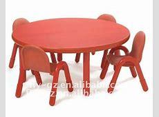 Haute qualité enfants en bois rond table et chaise pour