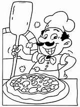 Pizza Coloring Kleurplaat Colouring Printable Nl Italian Preschool Kleurplaten Restaurant Craft Pizzaria Eten Maker Dibujos Chef Para Van Colorear Dibujo sketch template