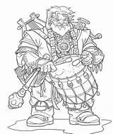 Dwarf Character Illustrations Bard Drawing Nelson Jim November Bards sketch template