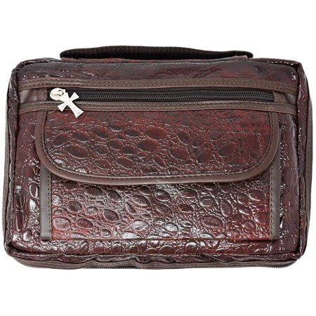 Cowhide Bible Cover by Quality Ccw Cowhide Leather Brown Alligator Design Bible