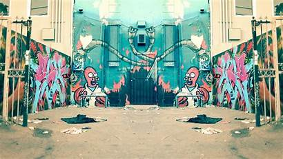 Graffiti Street Alley Futurama Bender Zoidberg Wallpapers
