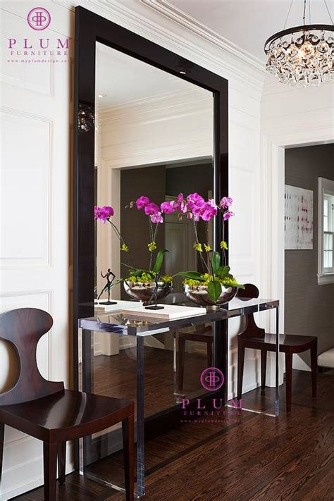 Foyer Mirrors by Lucite Console Table Contemporary Foyer Mcgill Design