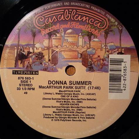 Donna Summer - MacArthur Park Suite / Last Dance (Vinyl