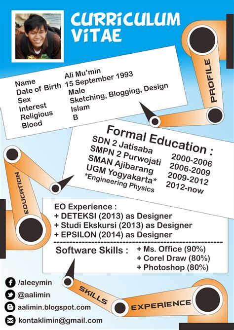Cara Membuat Resume Yang Menarik by The Cunkcrink Cara Bikin Design Cv Yang Menarik
