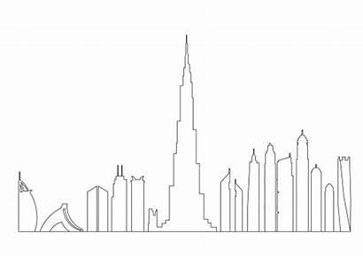 Dubai Skyline Buildings Liberty Statue Autocad