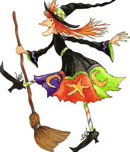 Dancing Halloween Witches Clip Art