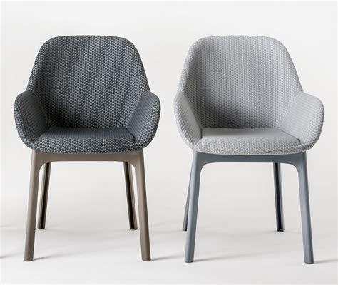 le de bureau kartell fauteuil rembourré clap tissu pieds plastique graphite