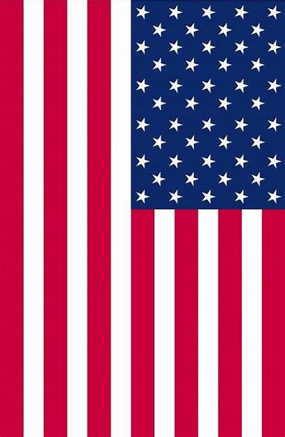 Flag American Clip Vector Clipart Vertical America