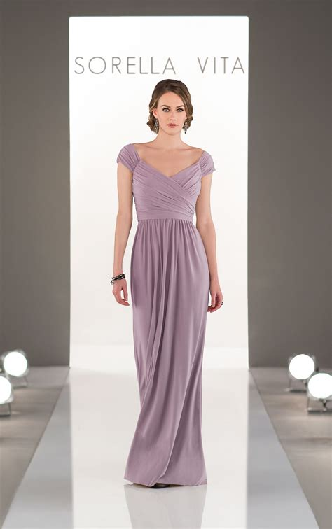 bridesmaid dresses soft cap sleeved bridesmaid gown
