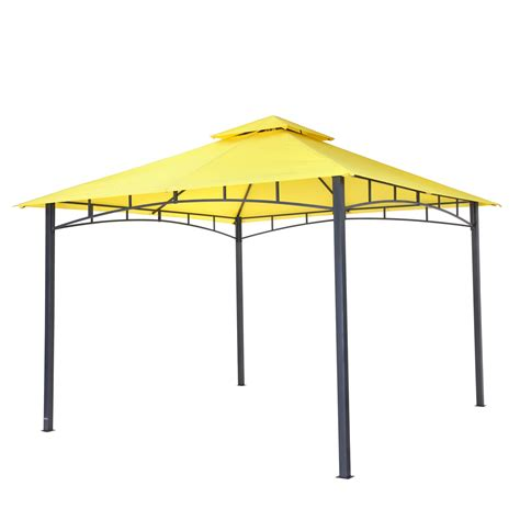 pavillon 4x4 wasserdicht tepro garten pavillon 3x3 m gartenzelt wasserdicht cing partyzelt waya gelb 4011964055292 ebay