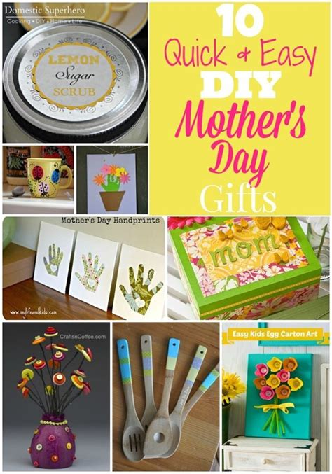 quick easy diy mothers day gifts diy mothers day