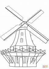 Coloring Windmill Mill Dutch Pages Drawing Smock Printable Windmills Template Sketch Getdrawings Categories sketch template