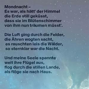 Berühmte Kunstwerke Der Romantik : mondnacht joseph von eichendorff zitate ~ One.caynefoto.club Haus und Dekorationen