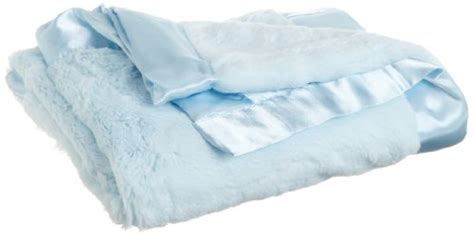 Little Me Baby-boys Newborn Plush Stroller Blanket, Light Blue, One Size