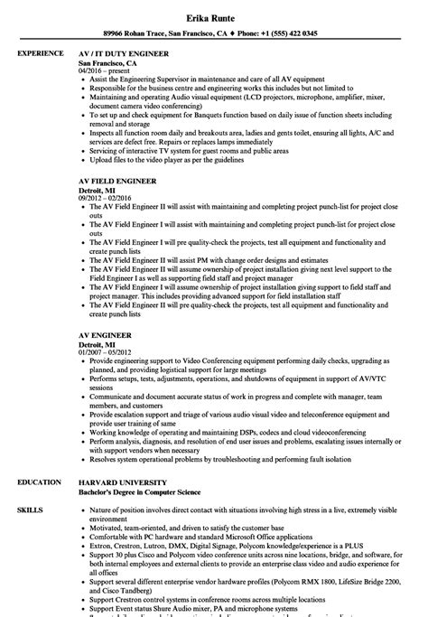 Typical Cv Format by Cctv Technician Resume Format