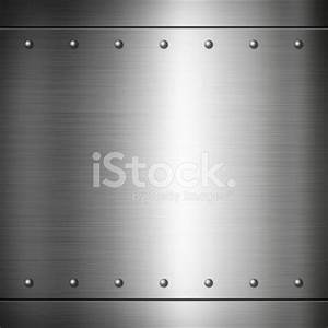 Steel Riveted Brushed Plate Texture Stock Photos ...