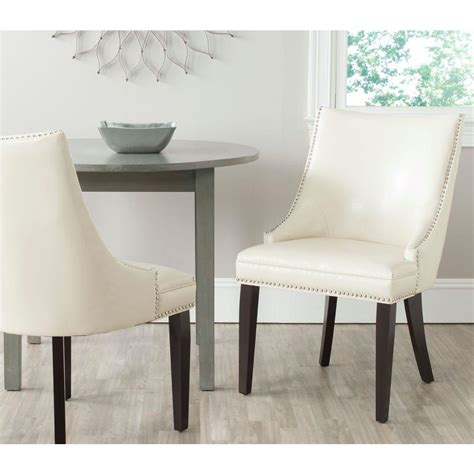 Safavieh Ken Side Chair by Safavieh Afton Flat Bicast Leather Side Chair Set