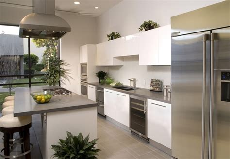 white and gray kitchen 35 beautiful white kitchen designs with pictures Modern
