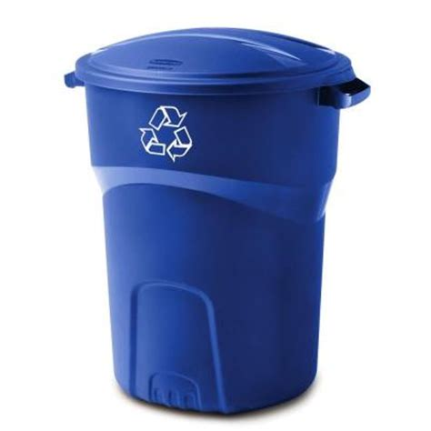 rubbermaid 32 gal roughneck recycling bin 1792641 the