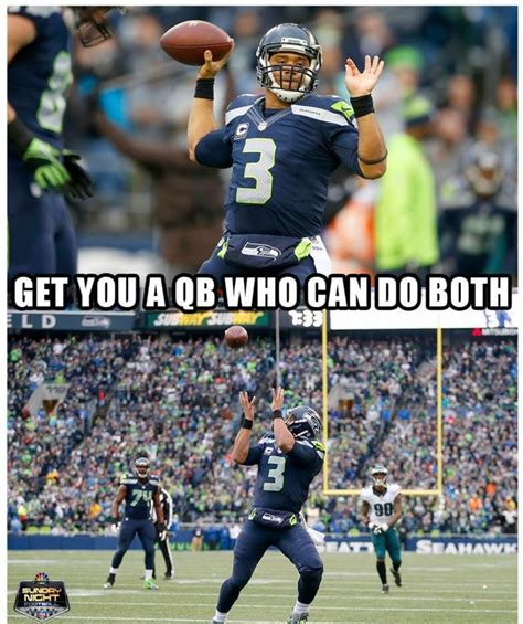 Seahawks Memes - russell wilson plays wide receiver too seahawks rule