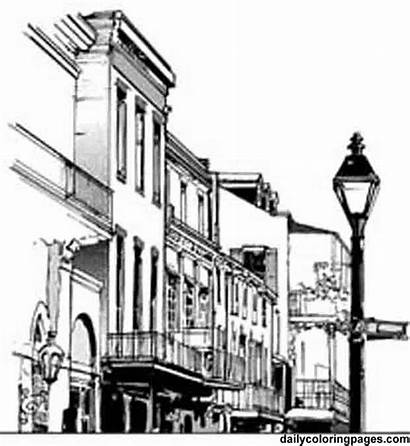 French Quarter Coloring Mardi Gras Pages Orleans