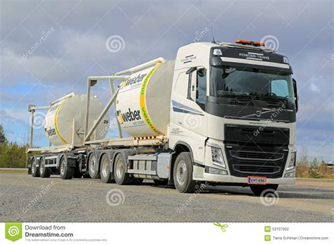 volvo transport truck volvo fh truck transports construction materials in silos