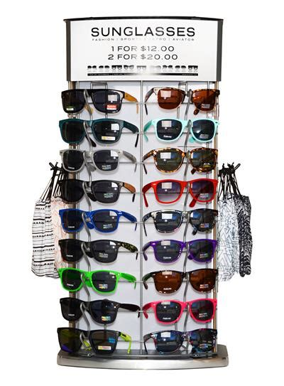 countertop sunglass display rotating countertop sunglass display holds 36 sunglasses