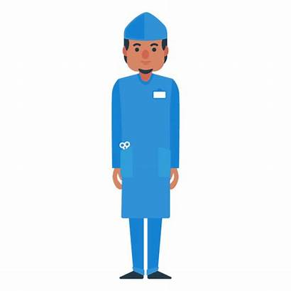 Doctor Character Flat Male Cartoon Transparent Characters