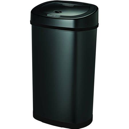 walmart kitchen garbage cans nine motion sensor touchless 13 2 gallon trash can
