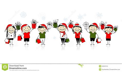 christmas shopping with friends stock photography image