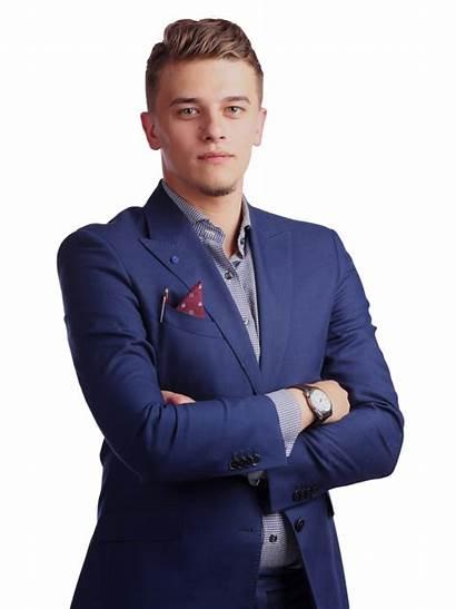 Businessman Young Rich Very Teach Transparent Lesson
