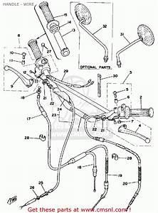 Yamaha Dt100 1977 Usa Canada Handle - Wire - Buy Original Handle