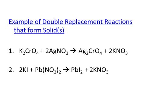 Double Replacement Reactions  Ppt Download