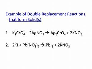 Double Replacement Reactions - ppt download