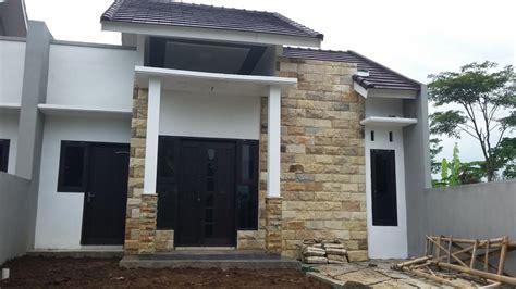 desain rumah minimalis  batu alam cantik  elegan
