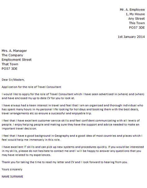 travel consultant cover letter  icoverorguk