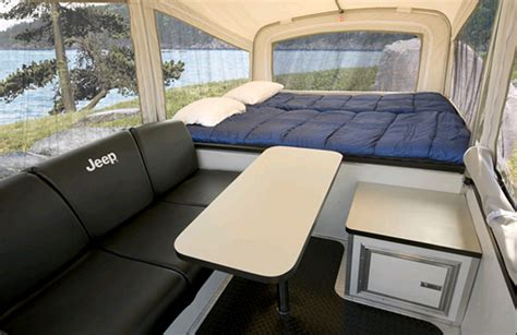 jeep tent inside jeep cer trailer the jeep blog