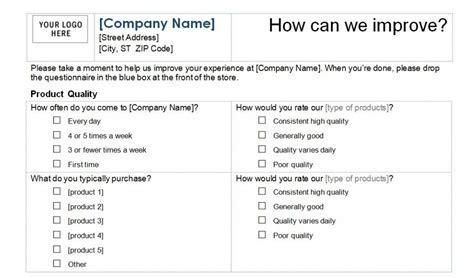 customer satisfaction survey template word