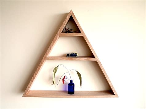 triangle wall shelf the triangle shelf by holcombe handkrafted