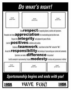 do what39s right sportsmanship resources ihsa With high school football program template
