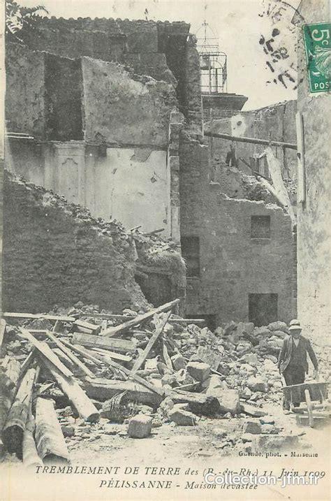 cpa france 13 quot pelissanne tremblement de terre juin