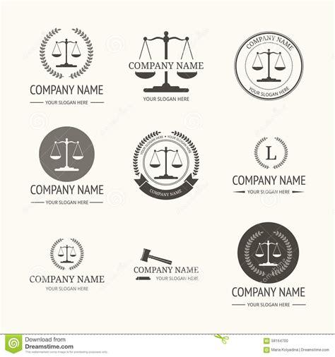 law firm logo template set of vintage labels stock vector illustration 58164700
