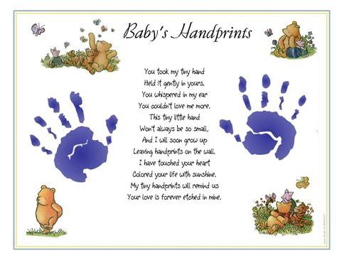 classic winnie  pooh baby st handprintsc poem print