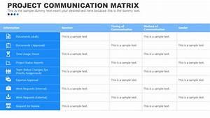 Project Communication Matrix Template