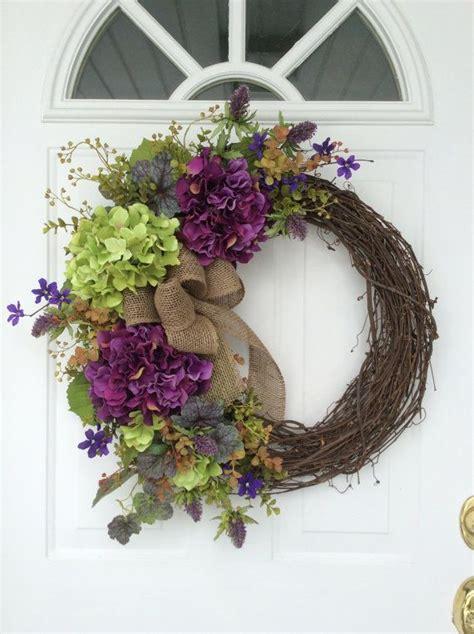 Spring Wreaths Hydrangea Wreath Front Door Rustic