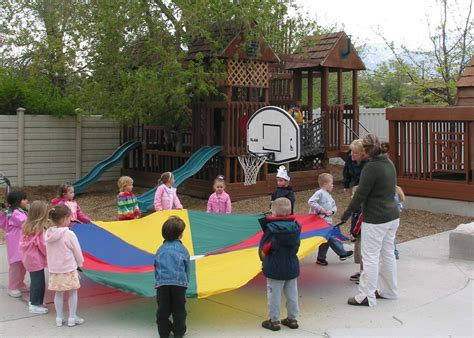 photos of outdoor play at the newcastle preschool 790 | playground pararchute