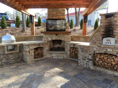 outdoor kitchen and fireplace designs cuisine d 233 t 233 design 7229