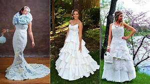 these wedding dresses made of toilet paper are With how to make a wedding dress out of toilet paper